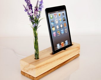 iPad Mini Docking Station - Vase Holder - iPad mini stand - iPad mini 2 dock - ipad mini 3 dock - iPad mini 4 dock