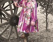 Girls dress - Claudia for Autumn and Winter. PDF Sizes 2-10