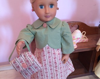 18 inch doll Dress with Matching Coat