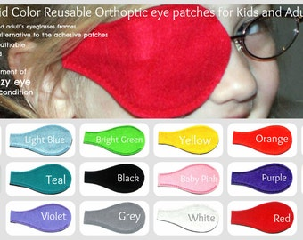 Kids and Adults Orthoptic Eye Patch For Amblyopia Lazy Eye Occlusion Therapy Treatment Solid Color