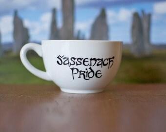 "Outlander ""Sassenach Pride"" Hand-Painted Teacup"