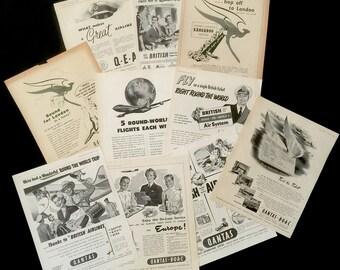 10 Vintage QANTAS Ads 1948-1960