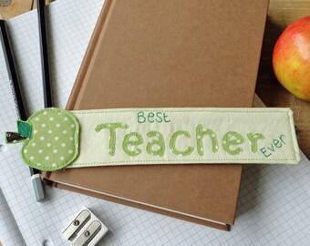 Green Apple Teachers Gift Bookmark