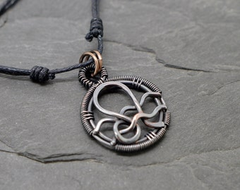 Leo aquarius combined zodiac necklace.