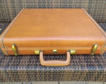 Vintage Samsonite Brief Case - Samsonite Caramel Colored Attache Case