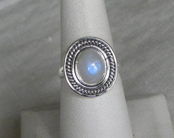 Moonstone Ring Handmade Ring Rainbow Moonstone Blue Flash 16x12mm Gemstone Sterling Silver Select Size Take 20% Off Blue Moonstone Jewelry
