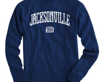 LS Jacksonville 904 Tee - Long Sleeve T-shirt - Men and Kids - S M L XL 2x 3x 4x - Jacksonville Shirt, Jax, Florida - 4 Colors