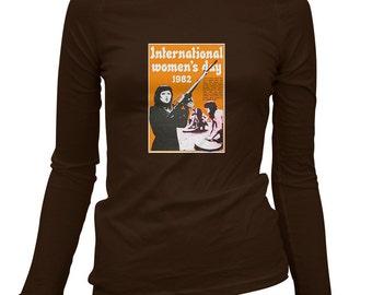 Women's International Women's Day Long Sleeve Tee - S M L XL 2x - Ladies' Feminism T-shirt, Feminist, Women's Rights, Liberty - 4 Colors