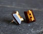 Antique Button Earrings, ...