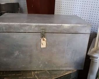 Antique Metal Truck Chest from France