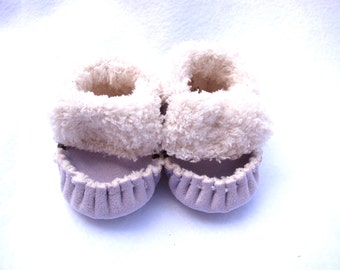 Purple Lilac, TotMocs,  Baby Moccasins, soft soled shoes, crib shoes, slippers