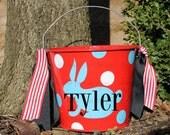 Personalized Easter Bucket/Basket/Pail - - -  5 QUART - - - Assorted Colors/Designs
