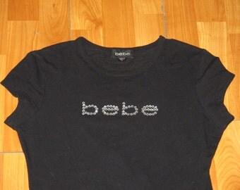 Vintage 1990s Bebe Rave Embellished T Shirt