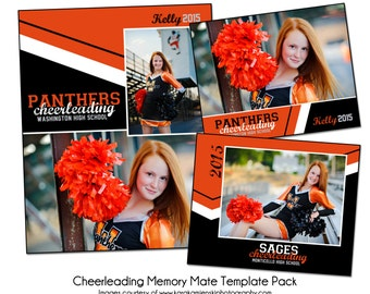 CHEERLEADING PACK C - Sports Memory Mate Photo Templates - Digital Files Only