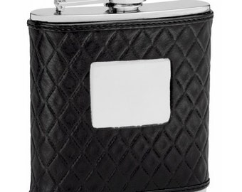 6 ounce Hip Flask - REAL Leather -  Personalization included