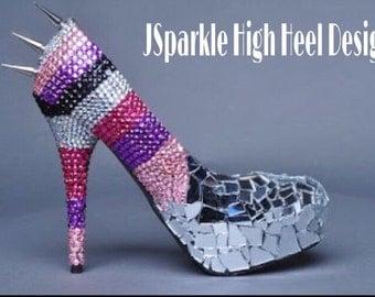 Spike Girly Custom High Heel Pumps