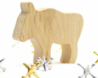 Wooden Animal Toy for Kids, Wildebeest, African Animal, Exotic Animal, Safari Animal, Wood Toy, Waldorf Toy