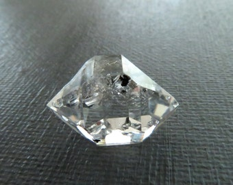 Herkimer Diamond Genuine from NY 1 Raw Crystal 18mm x 14mm / 13.5 Carats Natural Rough Stone from Upstate New York for Jewelry (Lot 9991)