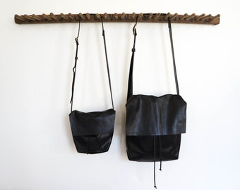Bolsa - Messenger Bucket Crossbody Bag - Black