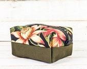 Dopp Kit | Floral + Olive