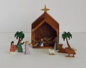 Handcrafted Miniature Nativity Set
