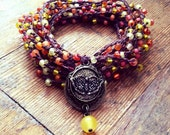 Secret Garden: Versatile crocheted necklace / bracelet / belt / headband