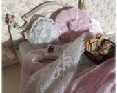 Shabby Chic Bed for 1/12th Boudoir