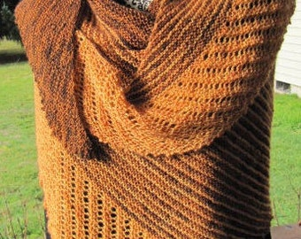 Wrap_shawl, asymmetrical-almond/toffee hues