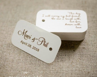 On This Day Personalized Gift Tags - Custom Wedding Favor Tags - Thank you tag - Hang tags - Wedding Gift Tags - Set of 40 (Item code: J282)
