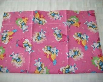 Smurf travel pillowcase