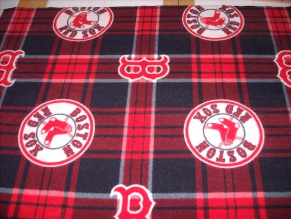 5 8 yard licensed mlb fleece fabric boston red sox for Spaceship fleece fabric