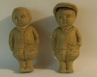 Vintage Rubber News Boy Figure #208 Japan