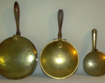 Lot of 3 Brass Silent Butler's Crumb Catchers