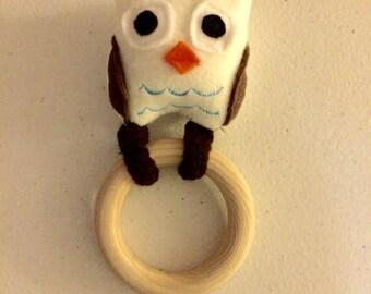 Owl Baby Rattle