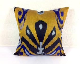 Ikat Pillow, Handmade Ikat Pillow Cover  A534-1aa3, Ikat throw pillows, Designer pillows, Decorative pillows, Accent pillows