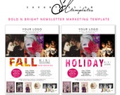 Fall Holiday Mini Session Marketing Templates, Newsletter Photography Template,  Bold, INSTANT DOWNLOAD
