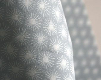 ORGANIC Morn's Ray Fabric in Grey from Aubade Collection for Cloud 9 Fabrics - One HALF YARD Cut