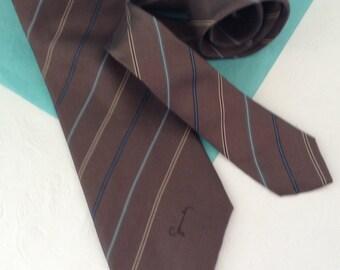 Givenchy Gentleman Paris - Necktie - Italian Silk - designer tie - business casual - co-worker gift - Gift for him - Gentlemen's gift