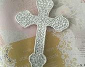Baptism top cake, cake topper cross, fist communion too cake, religious top cake, center piece cross,