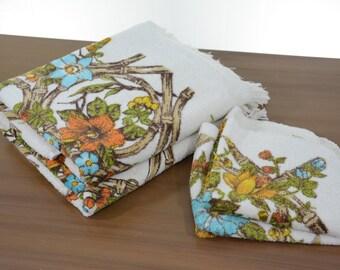 Mid Century Tiki Bath Towels and Washcloths Set of 4
