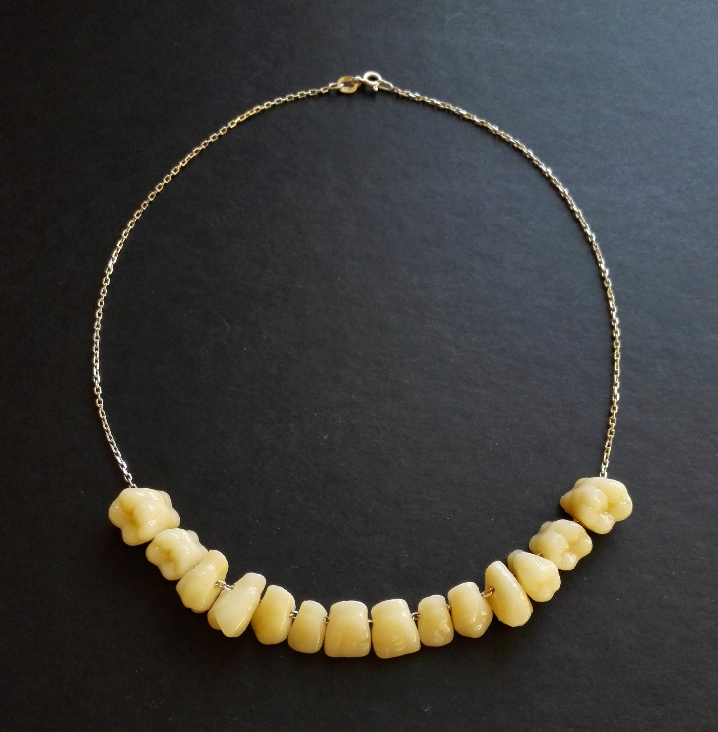 human teeth tooth necklace pendant sterling silver bone