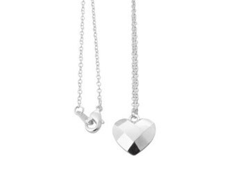 HEART silver charm necklace.  Bestie Gift.  You drink to much.  Cuss too much.  Everything I ever wanted in a friend.  donates to Humane