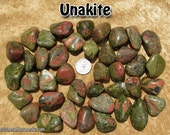Unakite (large/XL) tumbled stone for crystal healing