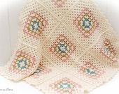 Newborn Baby Blanket, Photo Prop, Baby Gift  - Merino Wool, Cashmere - Ready to Ship, UK Seller