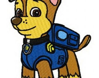 Paw Patrol CHASE Embroidered Iron On Patch