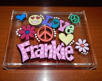Hand Painted and Personalized Acrylic Box