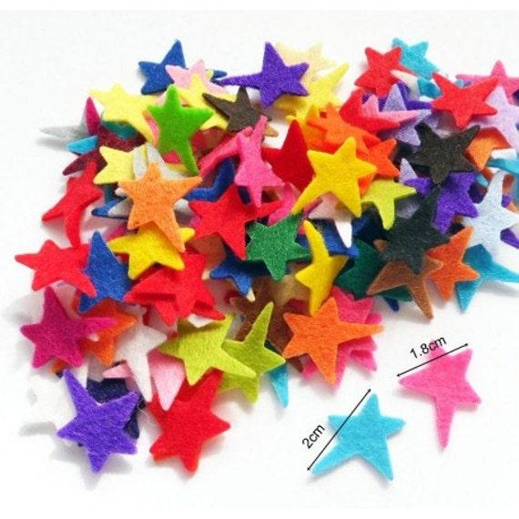 Felt Star - 50 pieces, Die Cut Shapes, Applique, Confetti, Party Supply, DIY Wedding