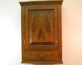 Custom Tiger Maple Spice Cabinet  Wall Cupboard with Drawer