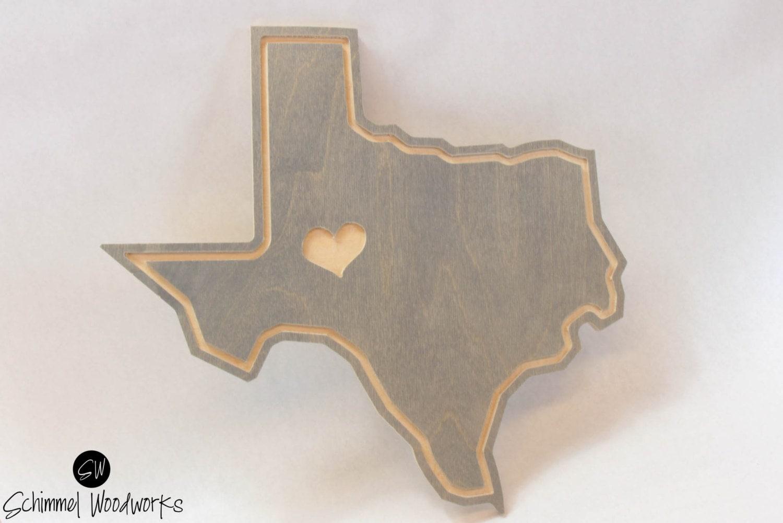 Love texas wall art heart texas wall decor the lone star for Lone star home decor