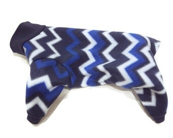 Blue Fleece Cat Pajamas-Fleece Cat Pajamas-Cat Clothes-Sphynx Cat Clothes-Cat Clothing-Cat Onesie-Clothes for Cats-Cat Pjs-Cat Pajamas-